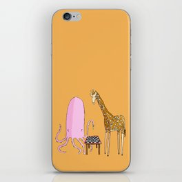 Octopus and Giraffe iPhone Skin