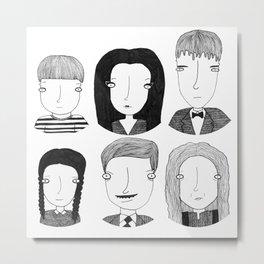 La familia Addams Metal Print