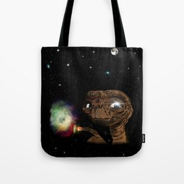 Yes, I build galaxies with a finger. And you? Tote Bag
