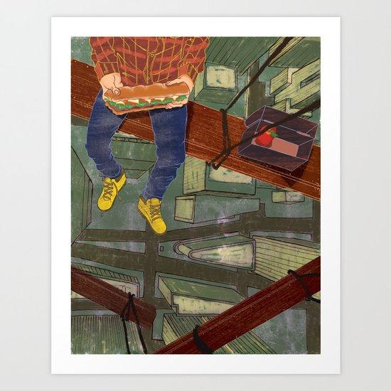 LUNCHBREAK Art Print