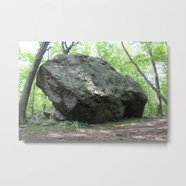 Bear Rock Boulder, Front View Metal Print