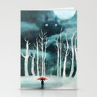 snow Stationery Cards featuring Snow by youcoucou
