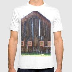 Big Ole Barn MEDIUM White Mens Fitted Tee