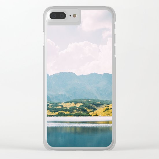 Autumn Mountain Lake Clear iPhone Case