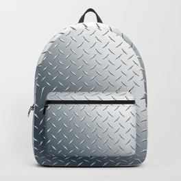 Diamond Plate Metal Pattern Backpack
