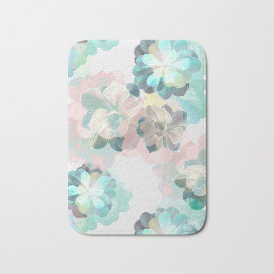 Succulent Pattern Bath Mat