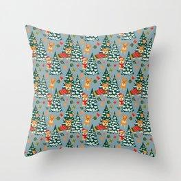 Merry Corgmess Throw Pillow
