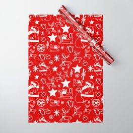 Santa at work Wrapping Paper