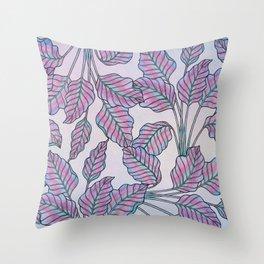 Colorful Caladiums Throw Pillow