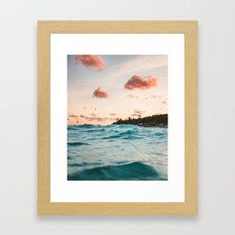 Cotton Candy Love Framed Art Print