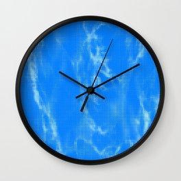 Blue Marble Halftone Wall Clock