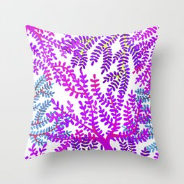 Violet sea corals. Throw Pillow