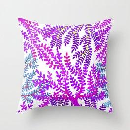 Violet sea corals. Throw Pillow