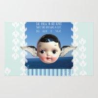 glee Area & Throw Rugs featuring ocean glee  by Kelli May-Krenz