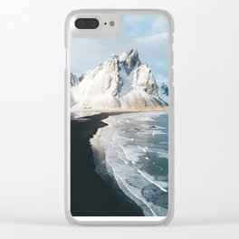 Iceland Mountain Beach - Landscape Photography Clear iPhone Case
