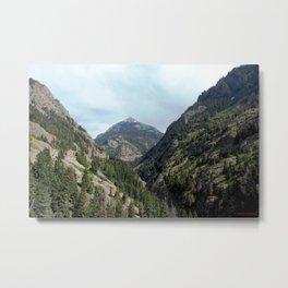 Perilous Road Down the Uncomphgre Gorge Metal Print