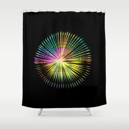 ...a simple kind of abstract mandala Shower Curtain