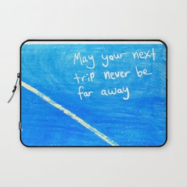 Travel on the Mind Laptop Sleeve