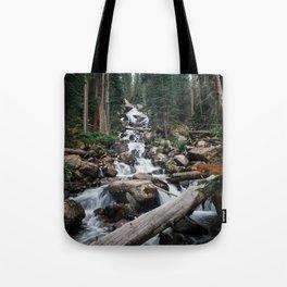 Rocky Mountain Waterfalls Tote Bag