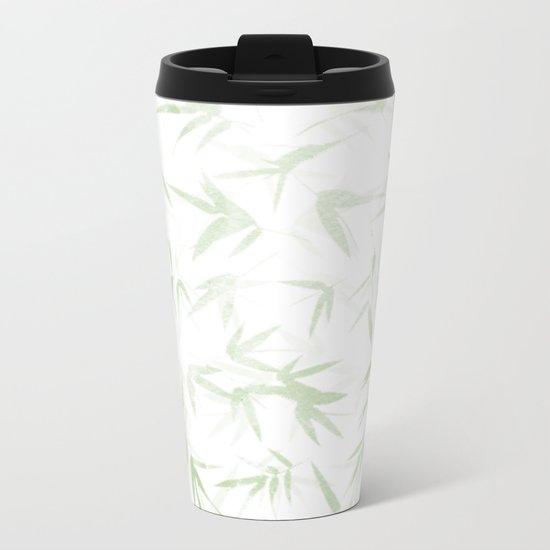leaves pattern Metal Travel Mug