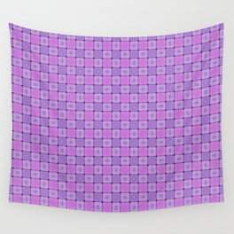 Violet Geometrical Pattern Wall Tapestry
