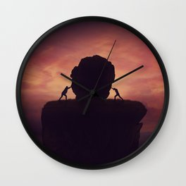 Leadership rivalry Wall Clock