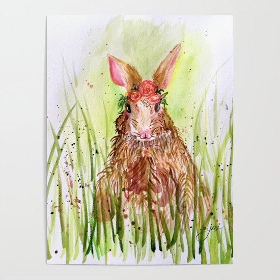 Rosie Rabbit by paintedapron