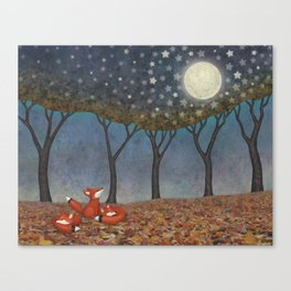 sleepy foxes Canvas Print