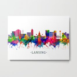 Lansing Michigan Skyline Metal Print