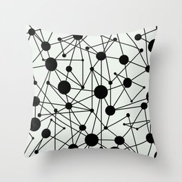 We're All Connected Throw Pillow