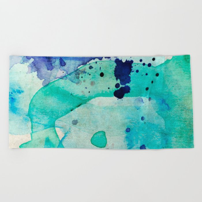 Pastel Color Splash 02 Beach Towel