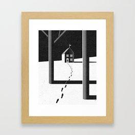 Walking Home/Deposit NY Framed Art Print