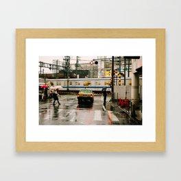 Rainy Day in Tokyo Framed Art Print