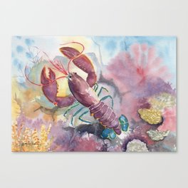 Under The Sea - Colorful Lobster Canvas Print