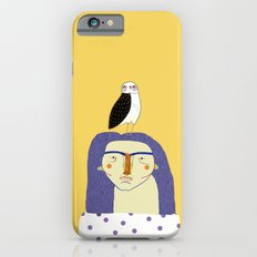 Women and Owl, owl art, people, illustration, fashion, style, iPhone 6s Slim Case