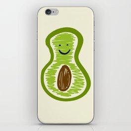 Smiling Avocado Food iPhone Skin