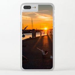 Harbor impressions in January Clear iPhone Case