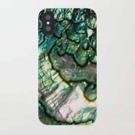 Shimmering Green Abalone Mother of Pearl iPhone Case