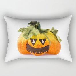 Pumpkin handmade from felted wool for celebration of Halloween Rectangular Pillow