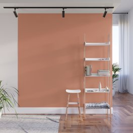 Cheap Solid Dark Pink Salmon Color Wall Mural