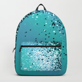 Aqua Blue OCEAN Glitter #1 #shiny #decor #art #society6 Backpack