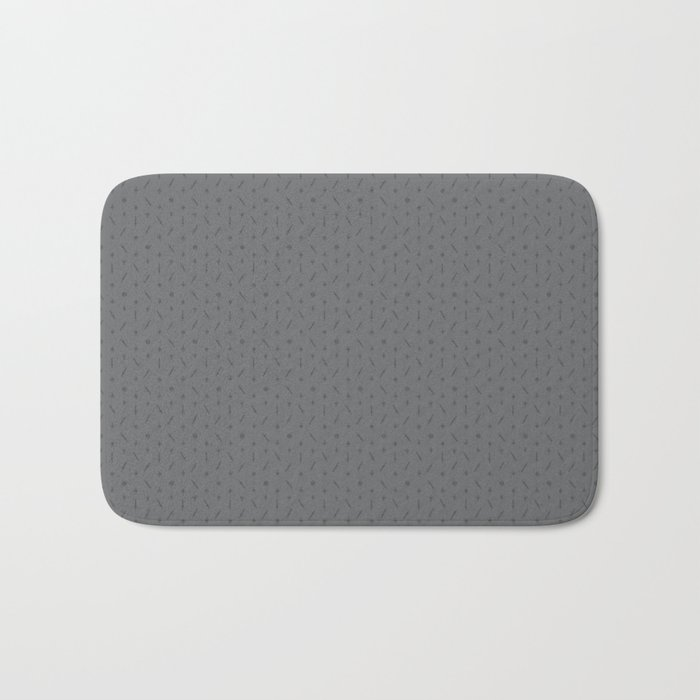 Claymore 7 Pattern - Medium Grey Bath Mat