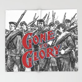 Gone To Glory / Vintage typography redrawn and repurposed Throw Blanket
