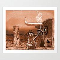 chicago bulls Art Prints featuring Bulls Eye by Laura Brightwood