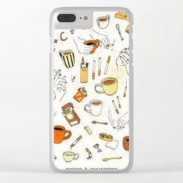 Coffee & Cigarettes Clear iPhone Case