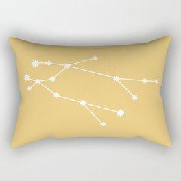 Gemini Zodiac Constellation - Golden Yellow Rectangular Pillow