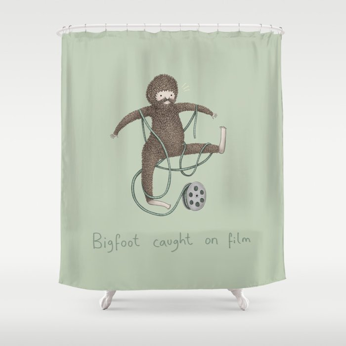 Bigfoot Caught on Film Shower Curtain