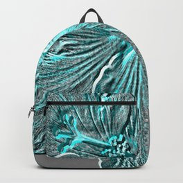 Bloom Grey Aqua Backpack