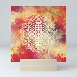 Flower Of Life (Sunset Skies) Mini Art Print