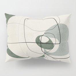 Minimalist Abstract Art Shapes - Scribbles Hunter Green 2 Pillow Sham